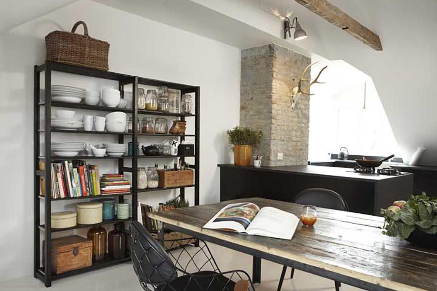 Lundia original open kasten op maat gemaakt - Open keuken op verblijf ...